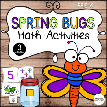 Spring Bugs Math 3-Pack (Preschool)