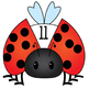 Bug Math Clip Art Set 1 - 20 - Color and Blacklines!