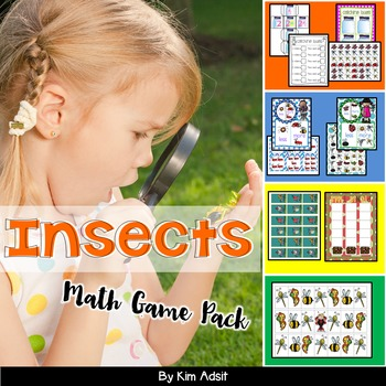 Insects and Bugs Math Game Pack