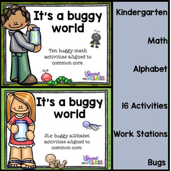 Bug Math and Alphabet Bundle - Aligned to Common Core