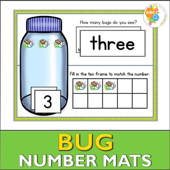 Bug Number Activity Mats 1-10