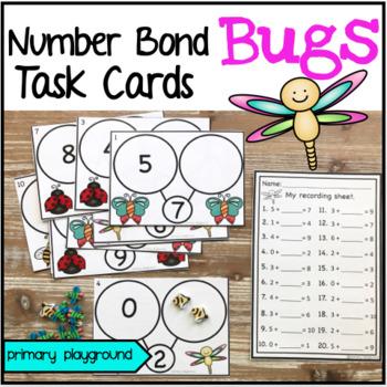 Bug Number Bond Task Cards 1-10
