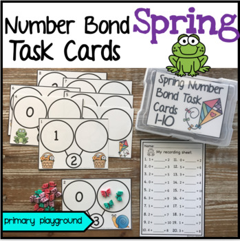 Spring Number Bond Task Cards 1-10