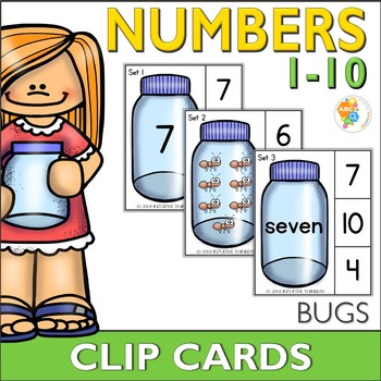 Bug Number Clip Cards 0-10