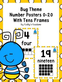 Bug Number Posters
