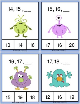 Bug Number Sequence Clothespin and Task Cards