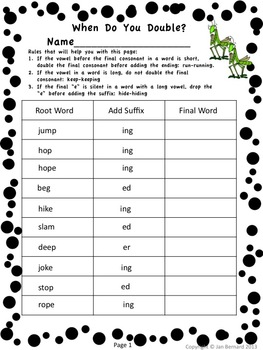 Bug Out! 3rd Grade Language Freebie