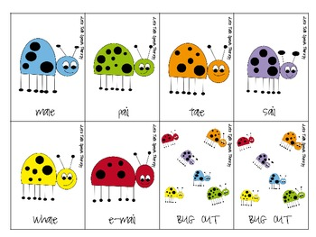 Bug Out! A rhyming word activity