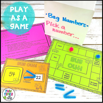 Comparing Numbers Game {to 99}