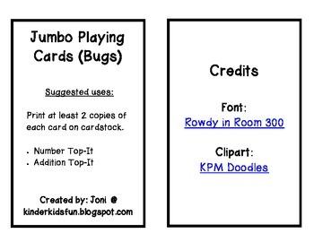 Bug Oversized Playing Cards