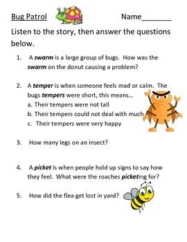 Bug Patrol Questions