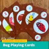 Bug Playing Cards, Matching game, Math Activity, Prek-Kind