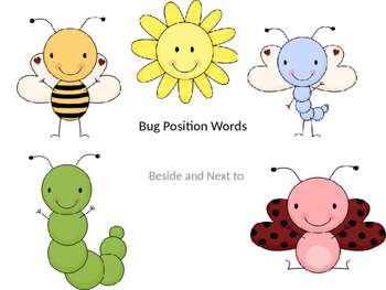 Bug Positional Words- Next to and Beside