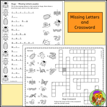 Bug Puzzle Activities - Insect and Minibeast Crossword, Word Search and more