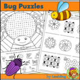 Bug Puzzles - Insect and Minibeast Crossword, Word Search