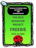 Bug Science Experiment Recording Sheet