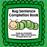 Bug Sentence Completion Book