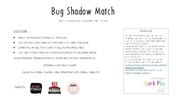 Bug Shadow Matching Game