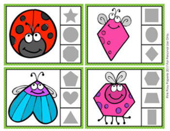Bug Shapes Clip Cards