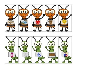 Bug Short Vowel Picture Sort