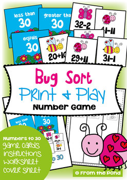 Bug Sort - Math Center Game for Addition Subtraction