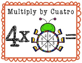 Bug Spinner Multiplication Game (with Spanish)