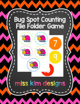 Bug Spot Counting File Folder Game for Special Education