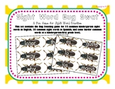 Bug Swatting Sight Word Game in English and Spanish