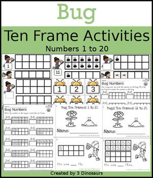 Bug Ten Frame Activities (1-20)