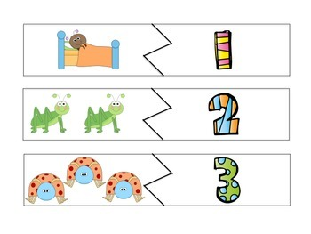 Bug Theme Counting Puzzles FREEBIE