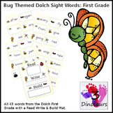 Bug Theme First Grade Sight Word Cards