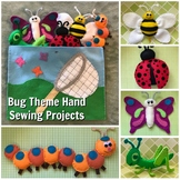 Bug Theme Hand Sewing-Butterfly, Bee, Ladybug, Grasshopper, Caterpillar Patterns