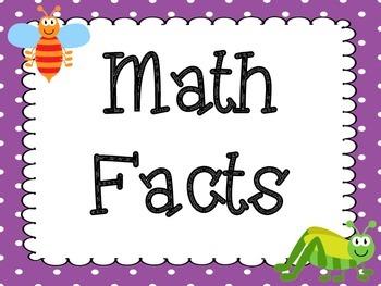 Bug Theme Math Centers