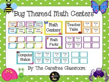 Bug Theme Math Centers