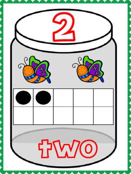 Bug Theme Ten Frame Cards