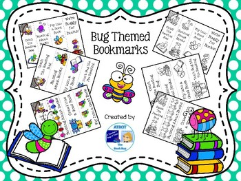 Bug Themed Bookmarks