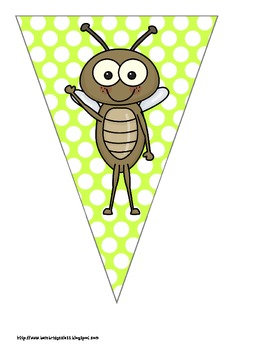 Bug Themed Buntings- Customize Your Own Banner!