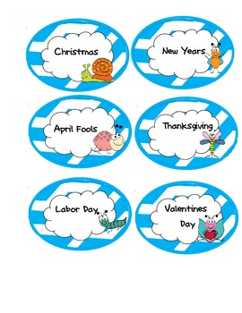 Bug Themed Calendar Numbers