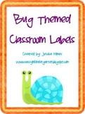 Bug Themed Classroom Labels