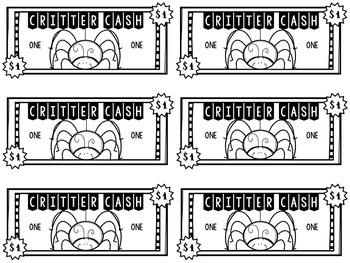 Bug Classroom Money {Critter Cash}