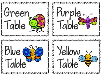 Bug Themed Classroom Set