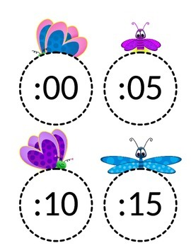Bug Themed Clock Labels