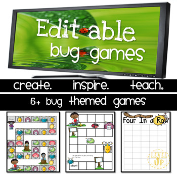 Bug Themed Editable Game Boards