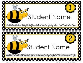 Bug -Themed Editable Name Tags