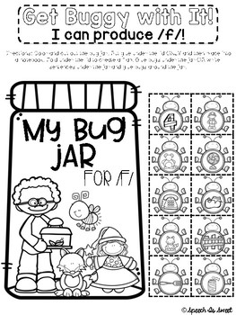 Bug Themed Interactive Articulation Notebook