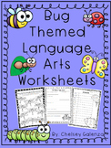 Insect & Bug Themed Language Arts Worksheets- Vocabulary,