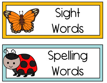 Bug Themed Learning Objectives