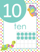 Bug Themed Numbers With Dots and Words For Counting, 0-20