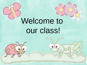 Bug Themed Open House Powerpoint
