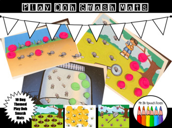 Bug Themed Play Doh Smash Mats: Activity for Articulation Skill Drill
